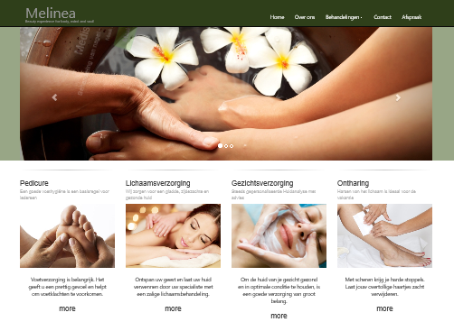 Website Medische Pedicure Melinea